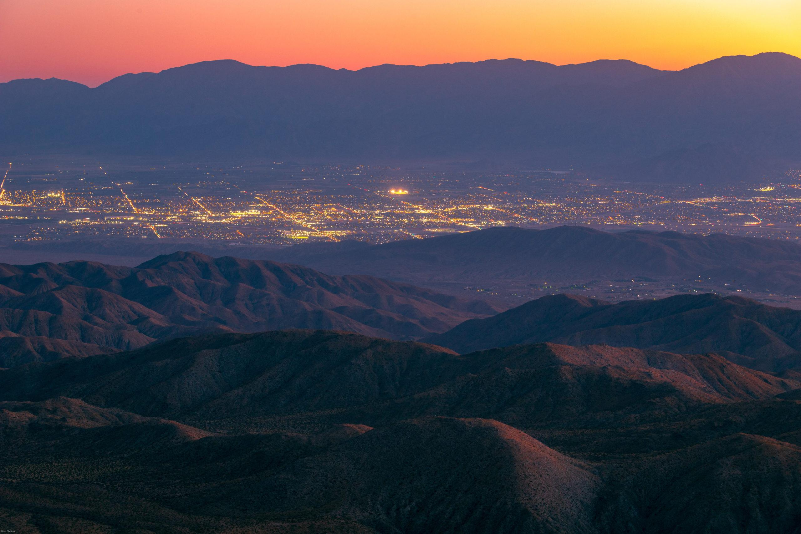 Indio, California. Desert dusk